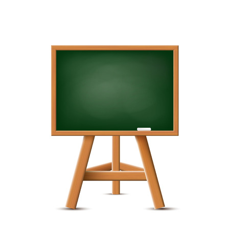 green chalkboard: School board isolated on a white background. Stock Vector.