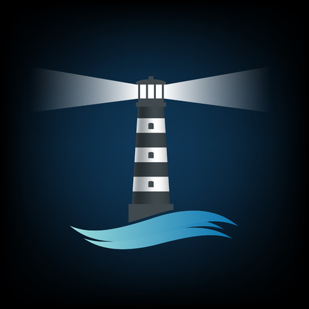 lighthouse keeper: old lighthouse. Vector image. Illustration