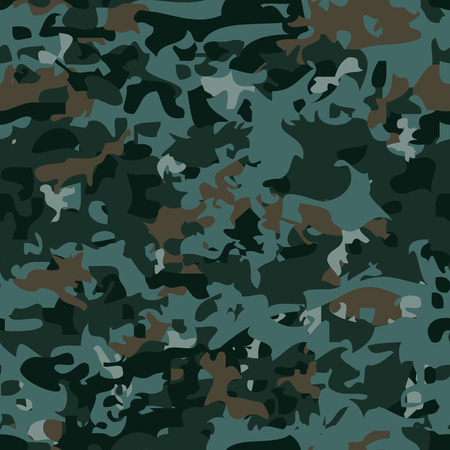 fatigues: Seamless military camouflage pattern. Vector background