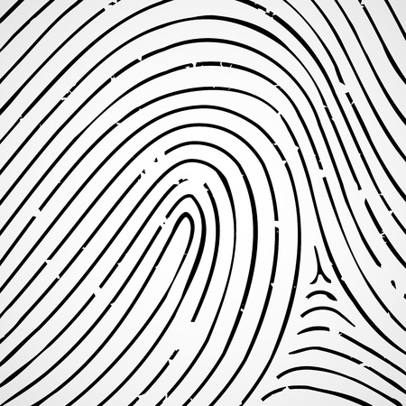Imprint a human finger on a white background. Vector Image.