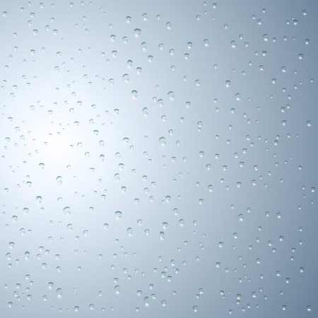 wetness: Water droplets on the glass. Vector image.
