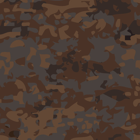 fatigues: Seamless military brown camouflage pattern. Vector background