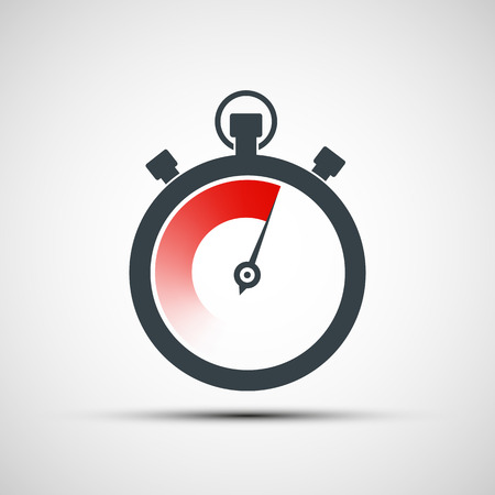 time icon: sports stopwatch. Vector image.