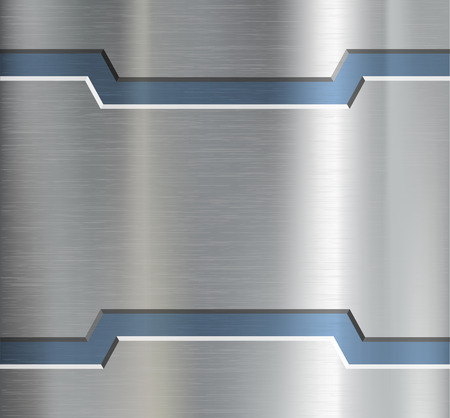 metal textures: Metal plate with ornament. Vector image.