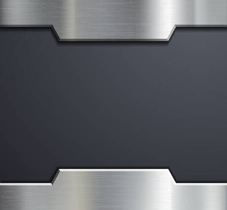 metals: Frame of a metal plate. Vector image.