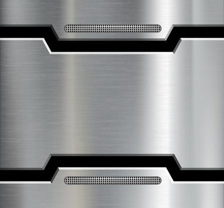 Texture of the metal plate. Vector image. Çizim