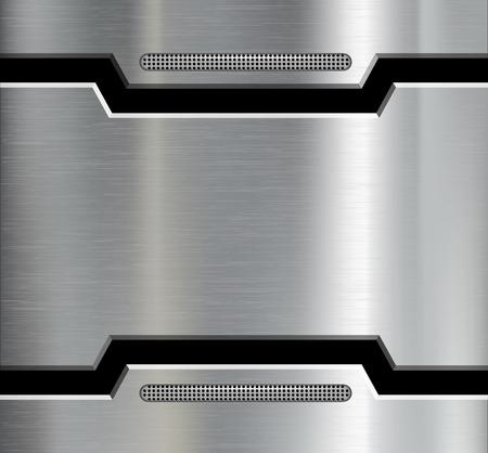 Textuur van de metalen plaat. Vector afbeelding. Stock Illustratie