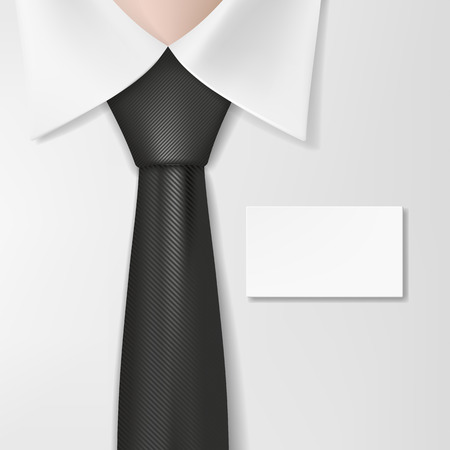tailored: Man in a shirt with a tie and badge Illustration