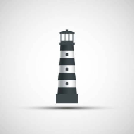 lighthouse keeper: Logo old lighthouse. Vector image.