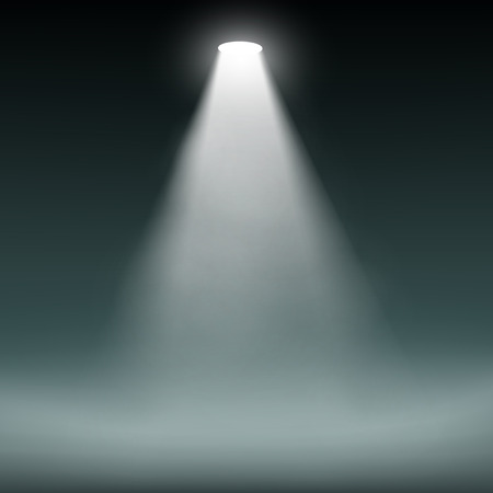fantasy: Lantern illuminates the dark background. Vector image.