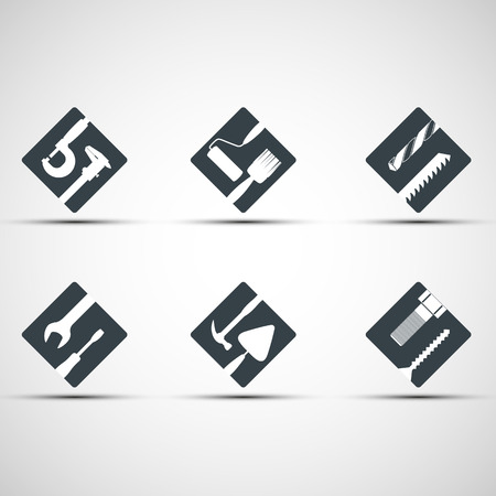 Set of icons tool. Vector image.