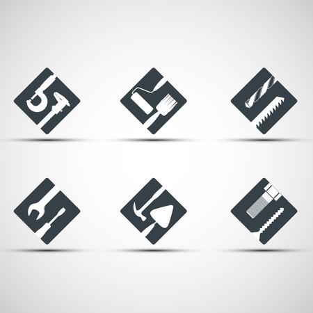Set van pictogrammen tool. Vector afbeelding.