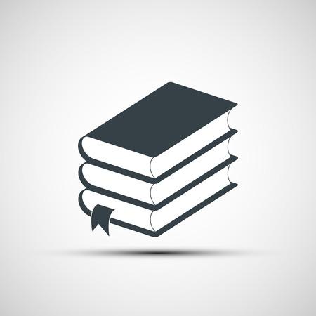 apilar: Pila de libros. Vector imagen.