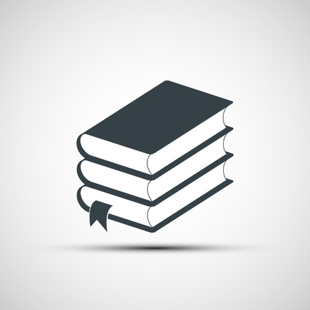 book logo: Stack of books. Vector image.