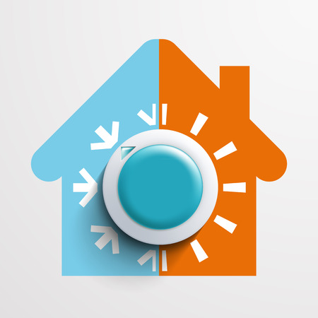 on air sign: Regulator climate control. Vector image.