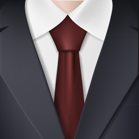 tailored: Man in suit and tie. Vector Image. Illustration