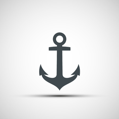 ancla: Logo ancla de la nave. Vector imagen.
