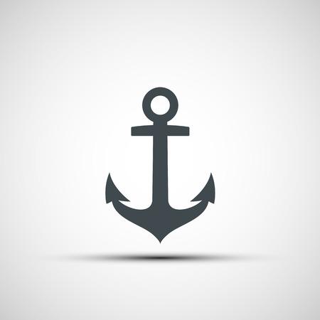 ship anchor: Ship anchor logo. Vector image.
