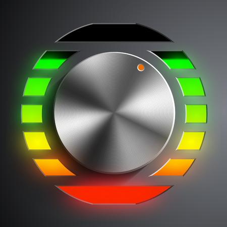 regulator: Round metal regulator. Vector image.