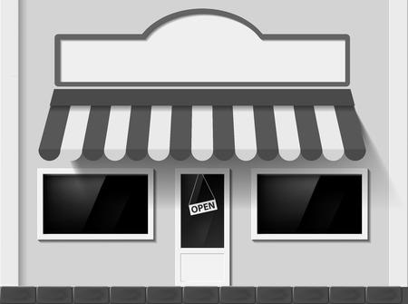 Shop window. Facade of the building. Vector Image. Vector