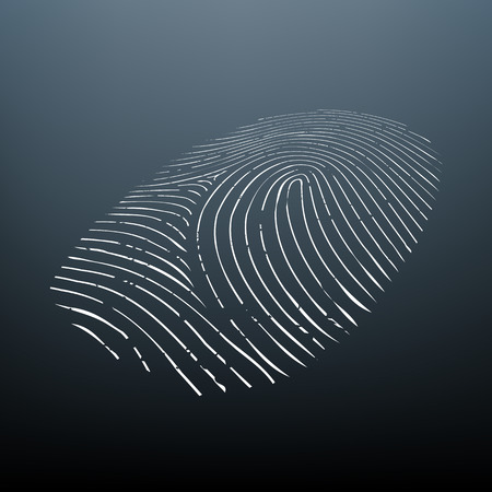 finger prints: Imprint a human finger