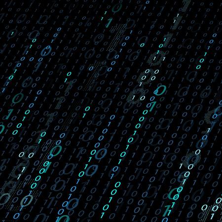 Background of binary code Illustration