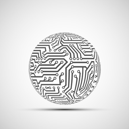 electronics industry: Abstract Technology logo
