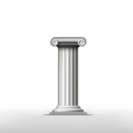 doric: Antique column on a white background Illustration