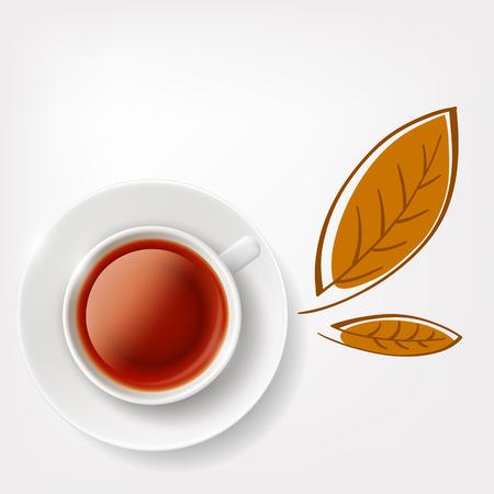tea cup: White cup of tea