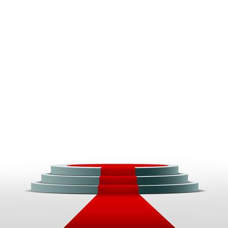Podium für die Zeremonie und Vorstellung