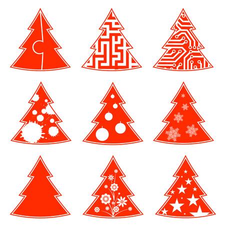 Christmas tree pattern Illustration