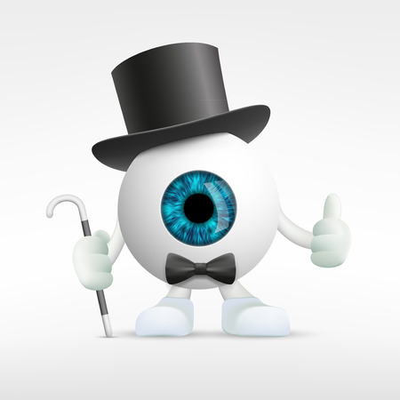 medical scanner: Human eye in a hat. Vector Image Stock. Illustration
