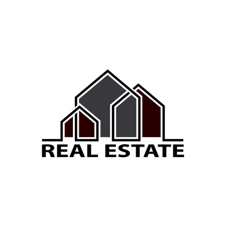 housing estate: Logo real estate. Isolated on white background. Stock Vector.