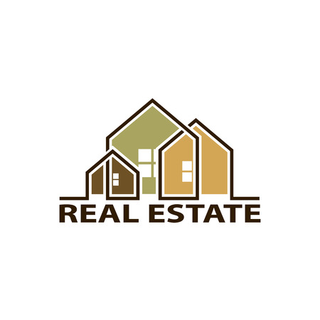 home owner: Logo real estate. Isolated on white background. Stock Vector.