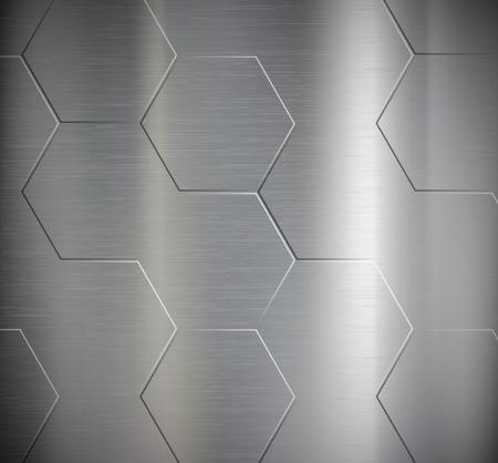 metales: Textura del metal. Modelo geométrico. Stock Vector. Vectores