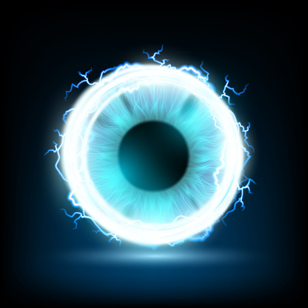 glance: Abstract image of a human eye. Stock vector image. Illustration