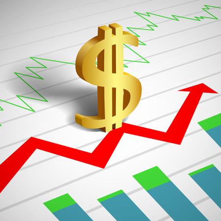 signo pesos: Signo de dólar. gráficos financieros y gráficos. Taza de cambio. Imagen del vector.