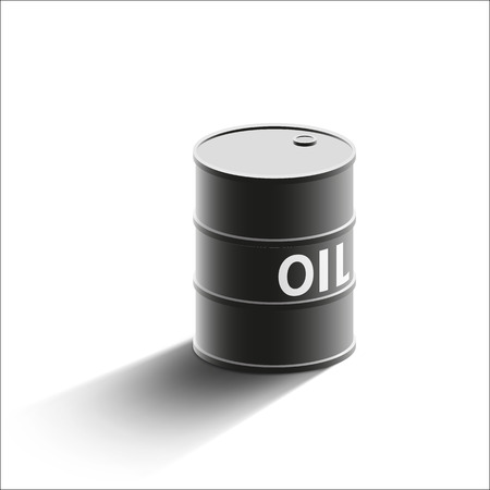 oilwell: Barrel of oil isolated on a white background. Stock Vector illustration. Illustration