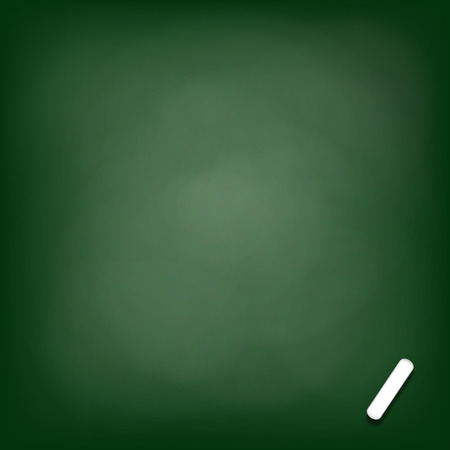 isolation backdrop: Green chalk board background. Stock vector image.