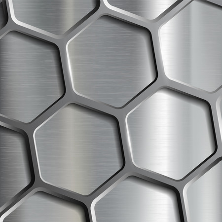 stainless: Metallic geometric pattern. Texture of the steel. Stock vector image.