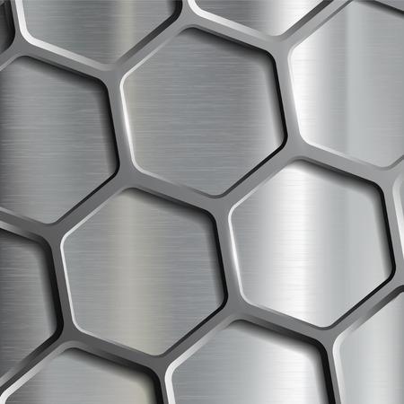 Metallic geometrische Muster. Textur des Stahls. Stock vector image.
