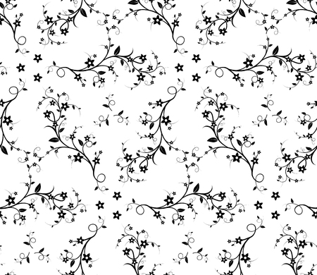 liana: Seamless floral pattern. Isolated on white background. Stock vector image.