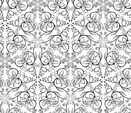 lirio blanco: Patrón sin fisuras. Flor de lirio aislado en un fondo blanco