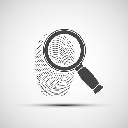 Logo of the human fingerprint
