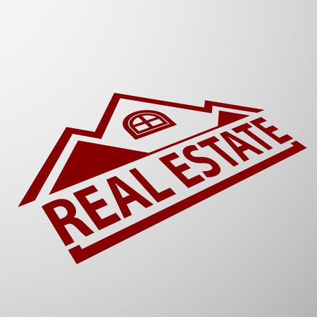 door sign: Logo of the real estate illustration