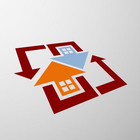 estate: Logo of real estate Illustration