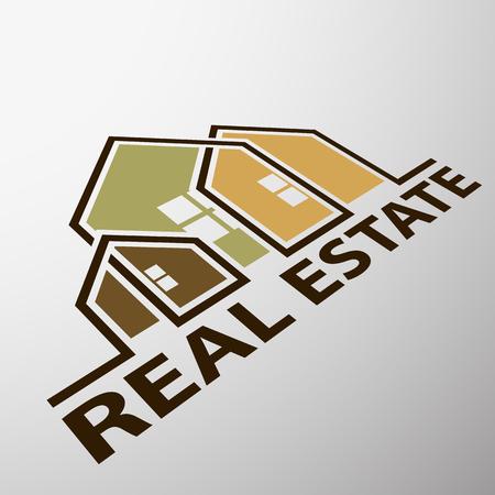 estate: Logo of the real estate Illustration