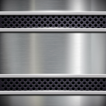metal frame: Square frame of brushed metal