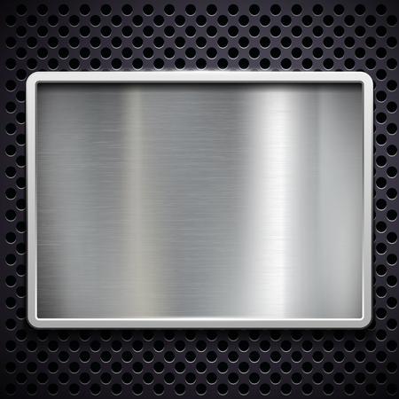 smooth: Square frame of brushed metal