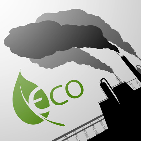 environment protection: Industrial Environment protection Illustration